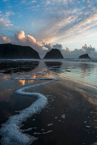 Cannon Beach「Dusk approaches on Crescent Beach」:スマホ壁紙(6)