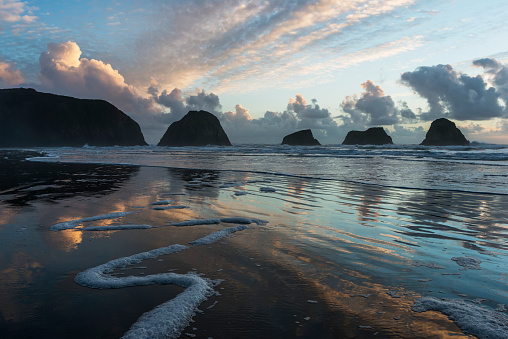 Cannon Beach「Dusk approaches on Crescent Beach」:スマホ壁紙(7)