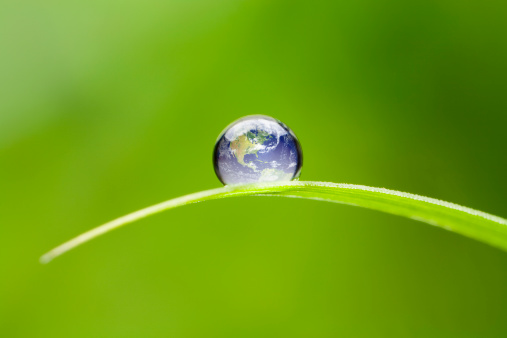 Green Color「Small Earth North America. Nature Water Environment Green Drop World」:スマホ壁紙(2)