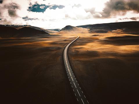 Direction「sunset road in iceland」:スマホ壁紙(12)