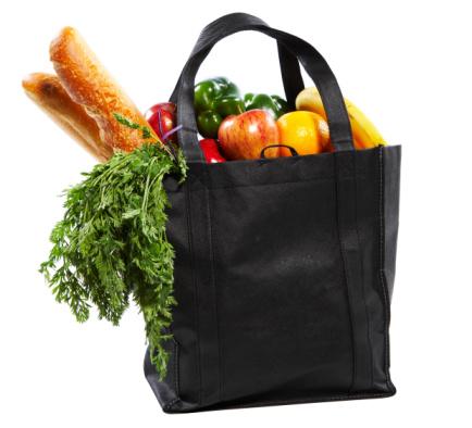 Reusable Bag「Bag of groceries on white background」:スマホ壁紙(10)