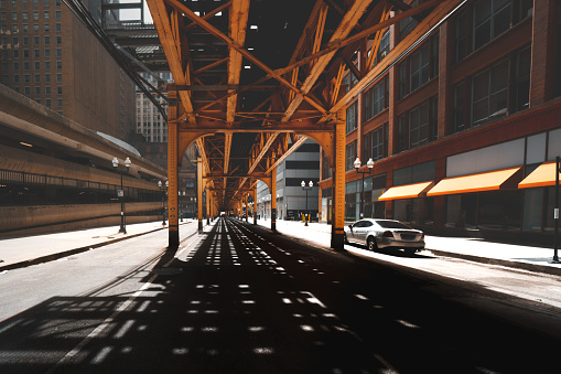 Shadow「Road under the Chicago Loop, Illinois, United States」:スマホ壁紙(11)