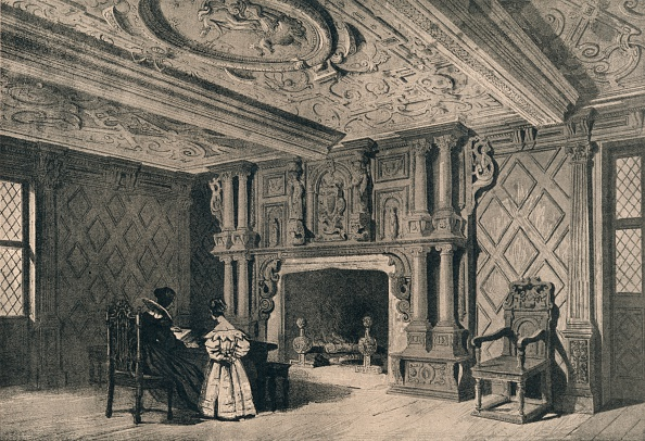 Wood Paneling「The drawing-room, Park Hall, Shropshire, 1915. Artist: Unknown.」:写真・画像(8)[壁紙.com]