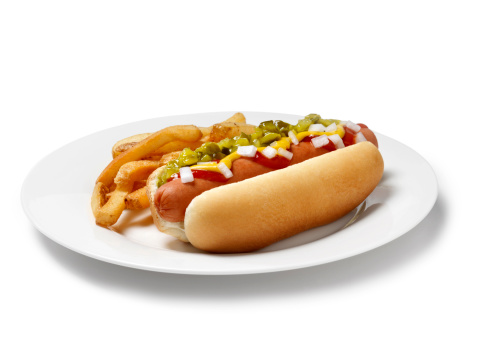 Plate「Loaded Hot Dog with Fries」:スマホ壁紙(8)