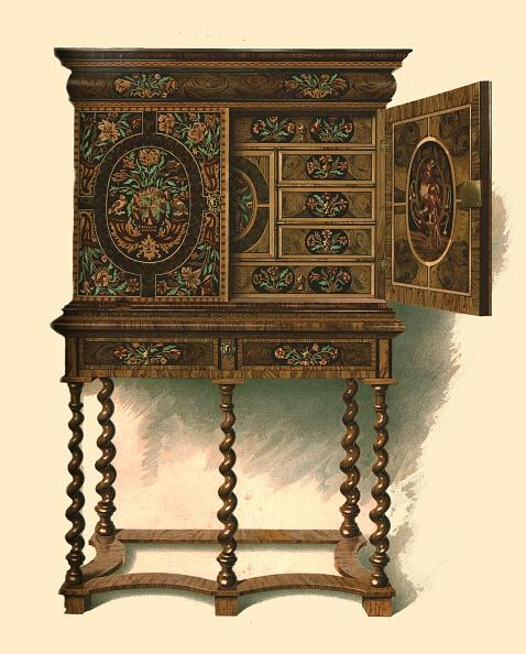 Corkscrew「Walnut Cabinet Inlaid With Marquetry」:写真・画像(4)[壁紙.com]