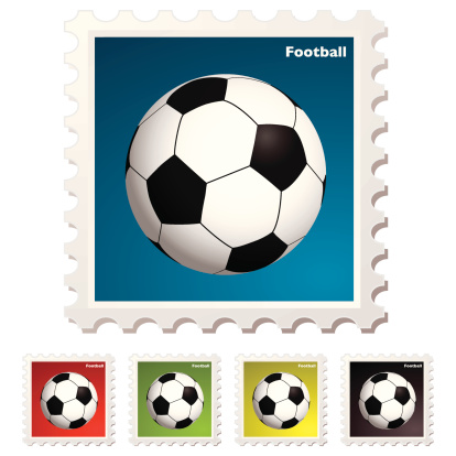Vector「Football sticky stamp sticker concept with traditional ball」:スマホ壁紙(10)