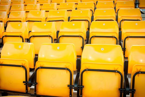 Parking Lot「football stadium yellow seats in norway」:スマホ壁紙(2)