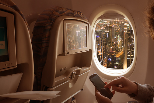 Hand「Night cityscape from an airplane」:スマホ壁紙(16)