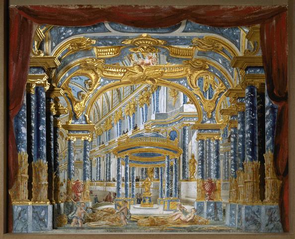 Painted Image「Palais De Cerès Stage Design For The Opera Proserpine By Jean-Baptiste Lully」:写真・画像(13)[壁紙.com]