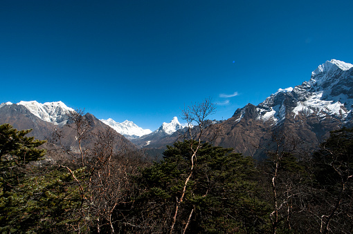 Namche Bazaar「A view of Mount Everest and Ama Dablam in Nepal」:スマホ壁紙(4)