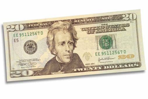 US Paper Currency「Twenty Dollars」:スマホ壁紙(13)