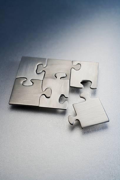 Metallic jigsaw puzzle:スマホ壁紙(壁紙.com)