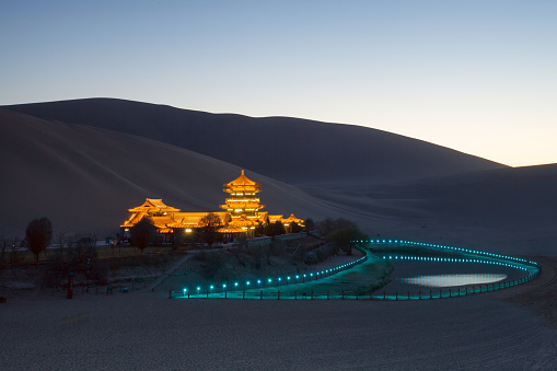 星空「Dunhuang desert, Gansu」:スマホ壁紙(18)