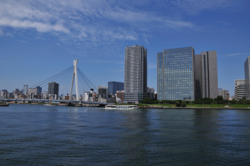 Japan「Sumida river and Tokyo skyline」:スマホ壁紙(12)