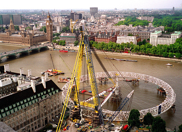 Millennium Wheel「The 'London Eye' The Largest Observation Wheel In The World Is Under Construction As Part Of The N」:写真・画像(0)[壁紙.com]