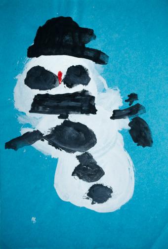 Evil「Children's drawing, Snowman」:スマホ壁紙(12)