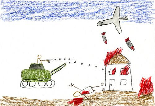 Evil「Children's drawing of war」:スマホ壁紙(9)