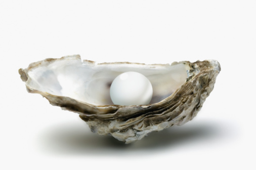 Mollusk「Pearl in oyster shell, close-up」:スマホ壁紙(6)