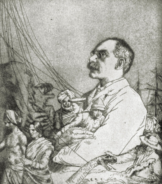 Culture Club「Rudyard Kipling - portrait of the English writer and poet. From Bookman 1903.」:写真・画像(16)[壁紙.com]