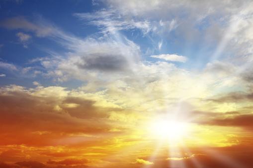雲「美しい夕焼け雲模様」:スマホ壁紙(8)
