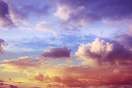 期待「美しい夕焼け雲模様」:スマホ壁紙(19)