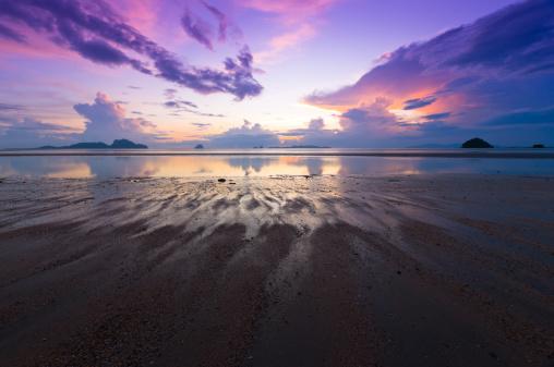 夕焼け 海「海の美しい日の出」:スマホ壁紙(15)