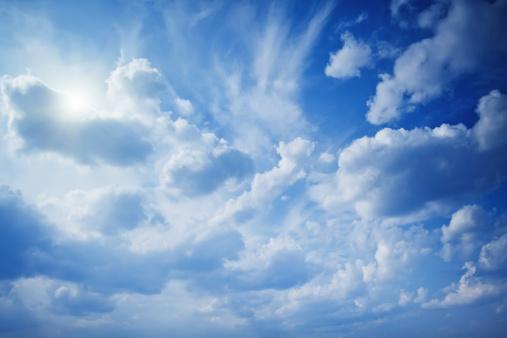 積雲「美しい空」:スマホ壁紙(1)