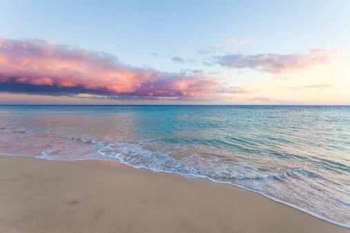 Sea「Beautiful Seascape, Beach and Ocean at Sunset」:スマホ壁紙(4)