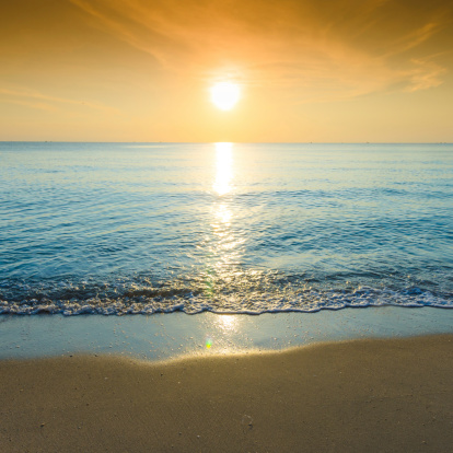 夕焼け 海「美しいシルエットにトロピカルな海の夕日」:スマホ壁紙(19)