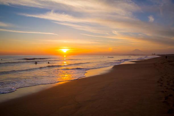 Beautiful sunset on the beach:スマホ壁紙(壁紙.com)
