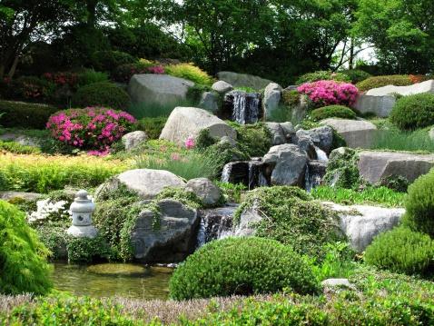 Rock Garden「Beautiful stonegarden with waterfalls」:スマホ壁紙(12)