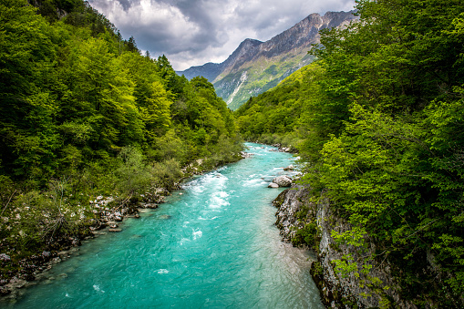 River「Beautiful Soca River near Kobarid in Slovenia, Europe」:スマホ壁紙(9)