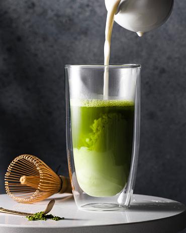 Latte「Preparation of matcha latte」:スマホ壁紙(16)