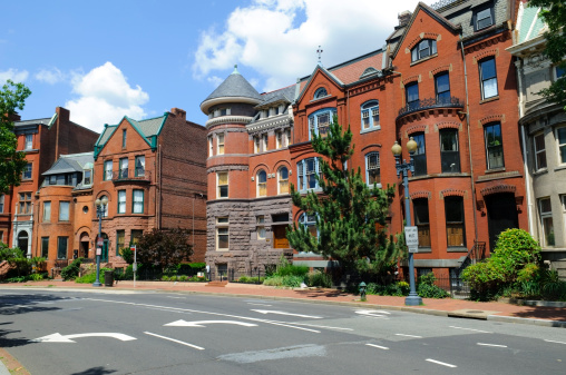 19th Century「Rowhouses in Washington DC」:スマホ壁紙(13)