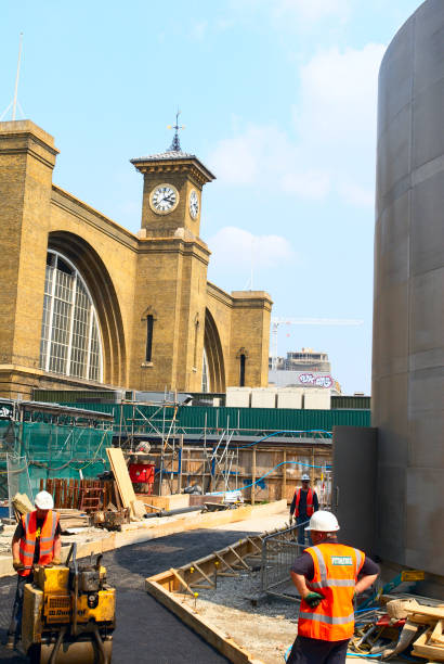 St Pancras and Kings Cross railway station under construction.:ニュース(壁紙.com)