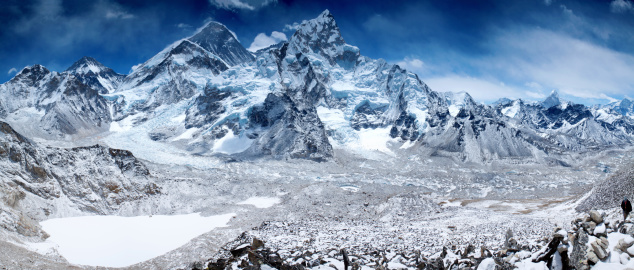 Ama Dablam「Amazing panorama of Himalayas mountain range on beautiful sunny day」:スマホ壁紙(18)