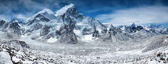 Ama Dablam「Amazing panorama of Himalayas mountain range on beautiful sunny day」:スマホ壁紙(12)