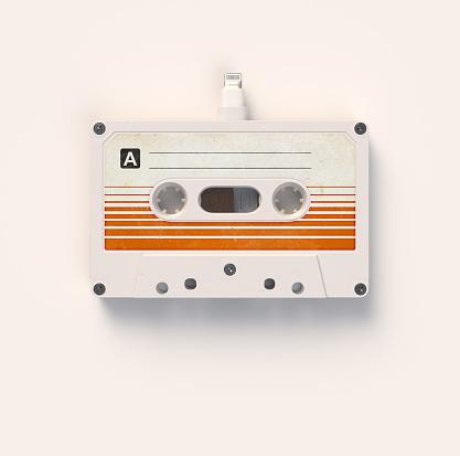 Icon「Cassette Tape with Audio Plug」:スマホ壁紙(14)