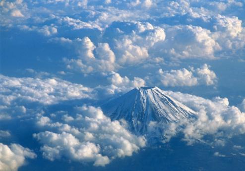 Mt Fuji「Japan, Yamanashi, Mount Fuji, aerial view」:スマホ壁紙(15)