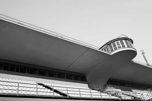 Velodrome「Empty Velodrome Bleachers. Black and White」:スマホ壁紙(1)