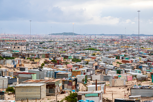 Slum「Khayelitsha township corrugated iron shacks」:スマホ壁紙(17)