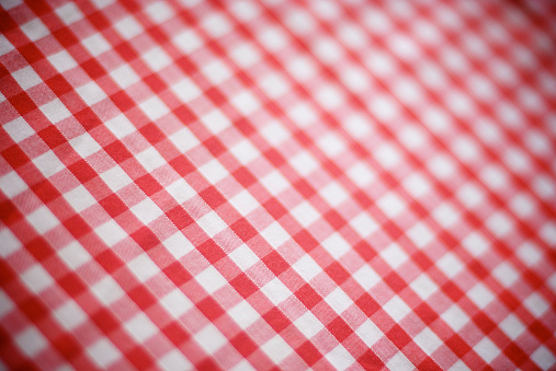 Picnic「Retro Gingham Tablecloth Red and White Checks Full Frame」:スマホ壁紙(8)
