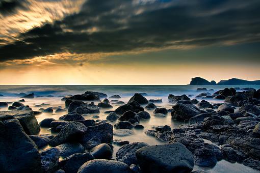 Jeju Island「Sunset on the beach VD702」:スマホ壁紙(11)