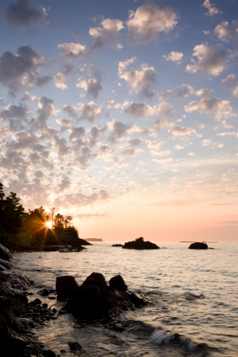 Great Lakes「sunset on the south shores of lake superior」:スマホ壁紙(1)