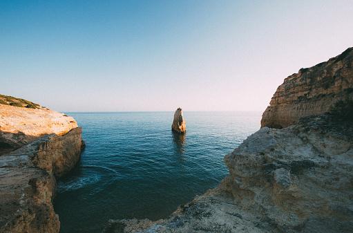 ビーチ「Sunset on the Algarve」:スマホ壁紙(18)