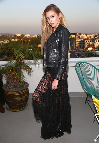 Leather Jacket「Alice McCall SS18 Launch Event With Campaign Face Stella Maxwell」:写真・画像(1)[壁紙.com]