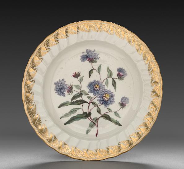 Plate「Plate From Dessert Service: Tall Blue Aster」:写真・画像(6)[壁紙.com]
