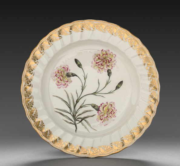 Crockery「Plate From Dessert Service: Picatee Carnation」:写真・画像(4)[壁紙.com]