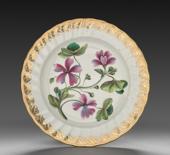 Plate「Plate From Dessert Service: Althaea Marsh Mallow」:写真・画像(4)[壁紙.com]