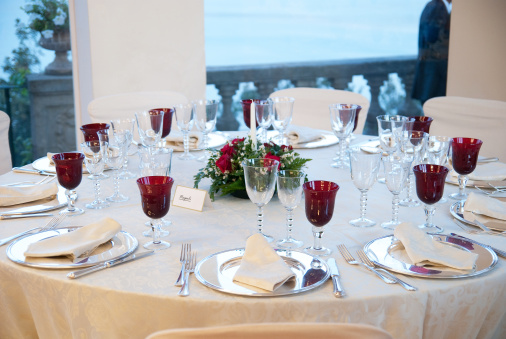 Party - Social Event「dinner table decoration for white wedding」:スマホ壁紙(3)
